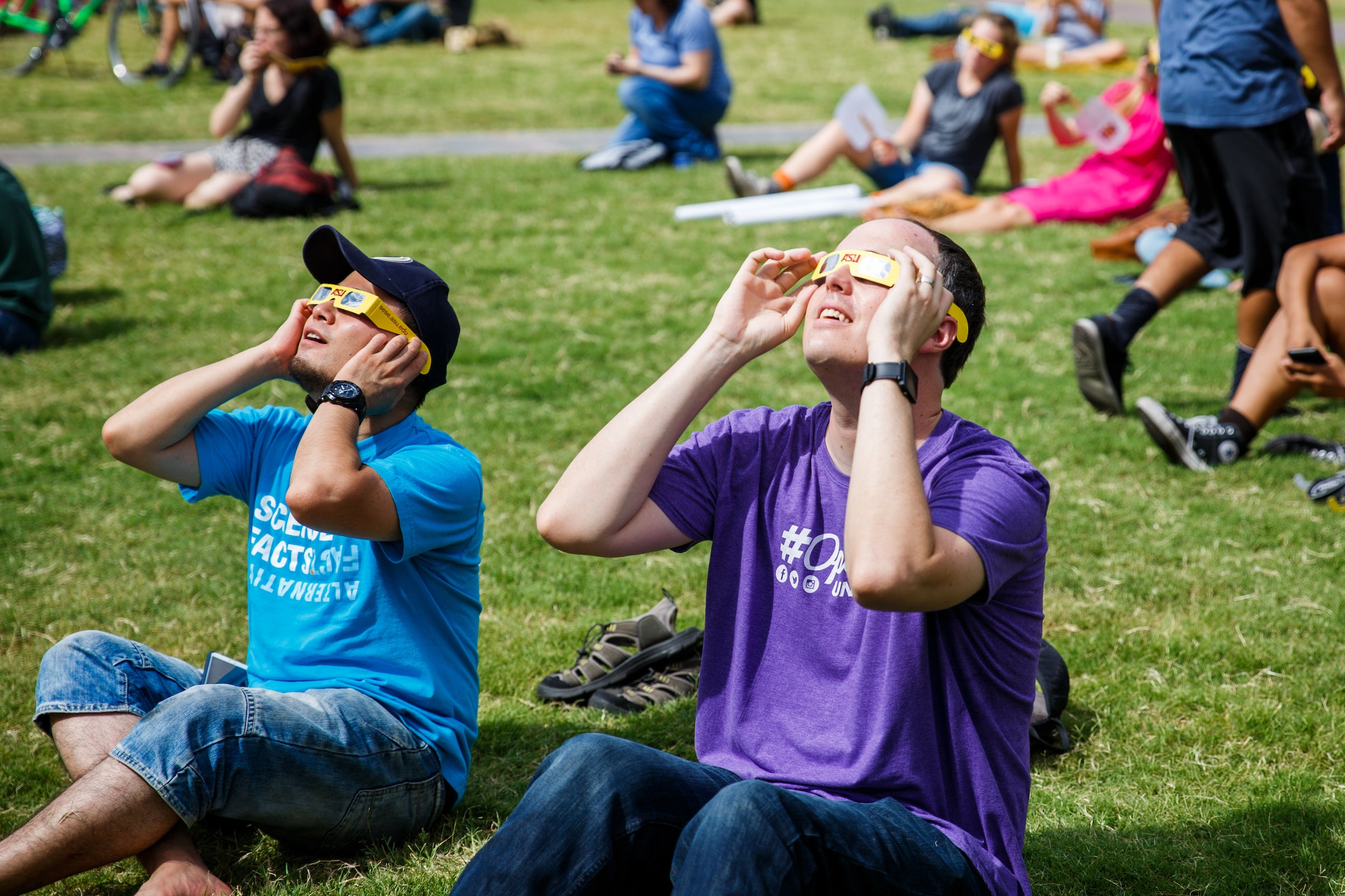 Solar eclipse viewing party