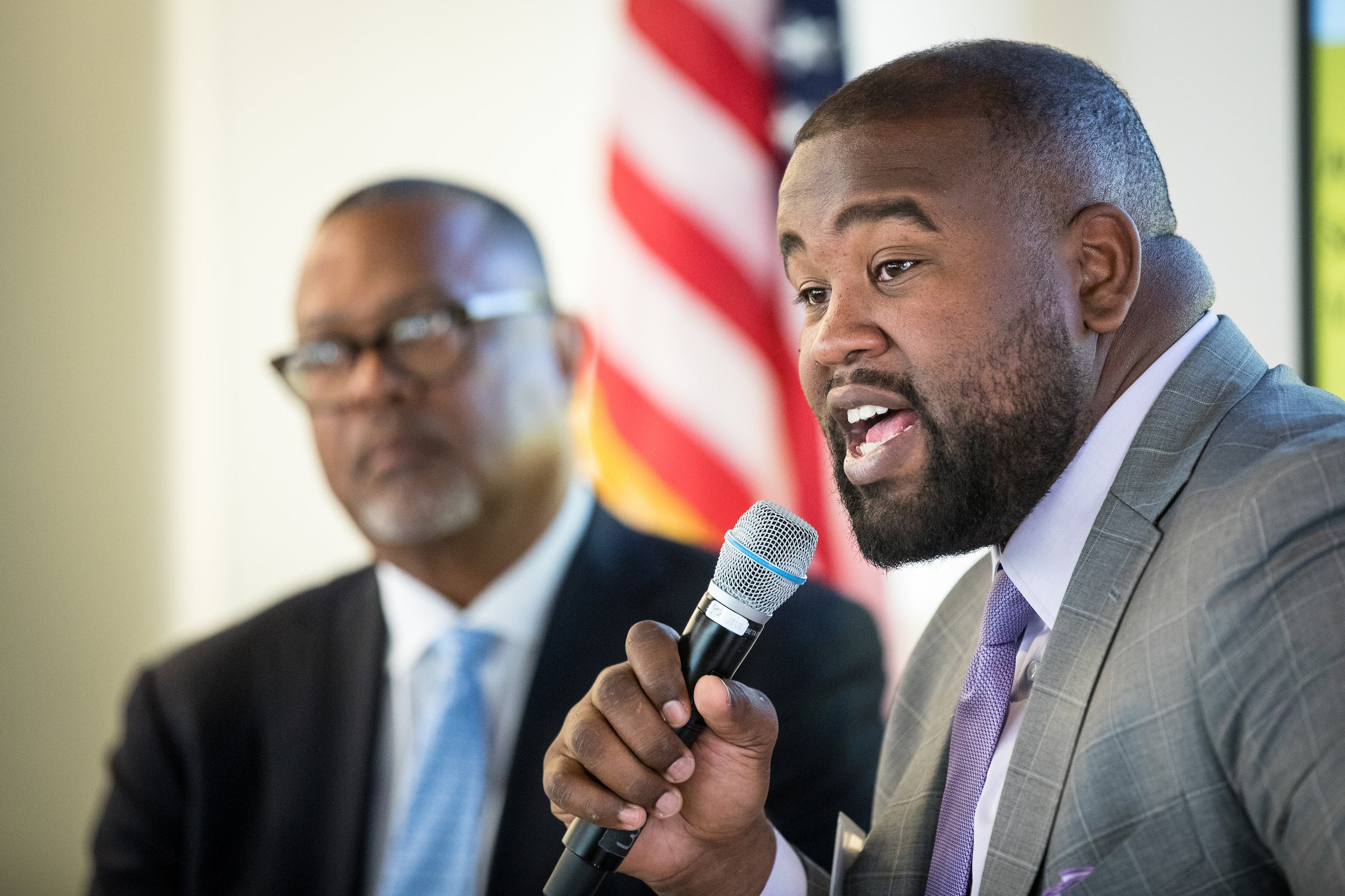 Retired NFL player Jacques McClendon at the ASU Barrett and OConnor Washington Center
