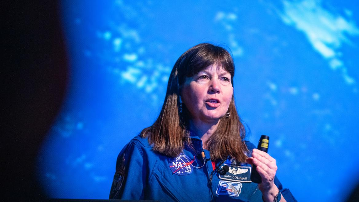 Global Explorer in Residence Cady Coleman delivers her inaugural lecture at ASU
