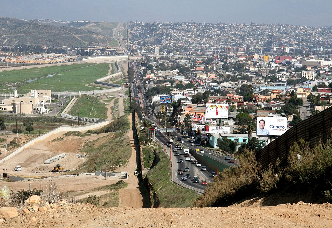 US Mexico border in San Diego