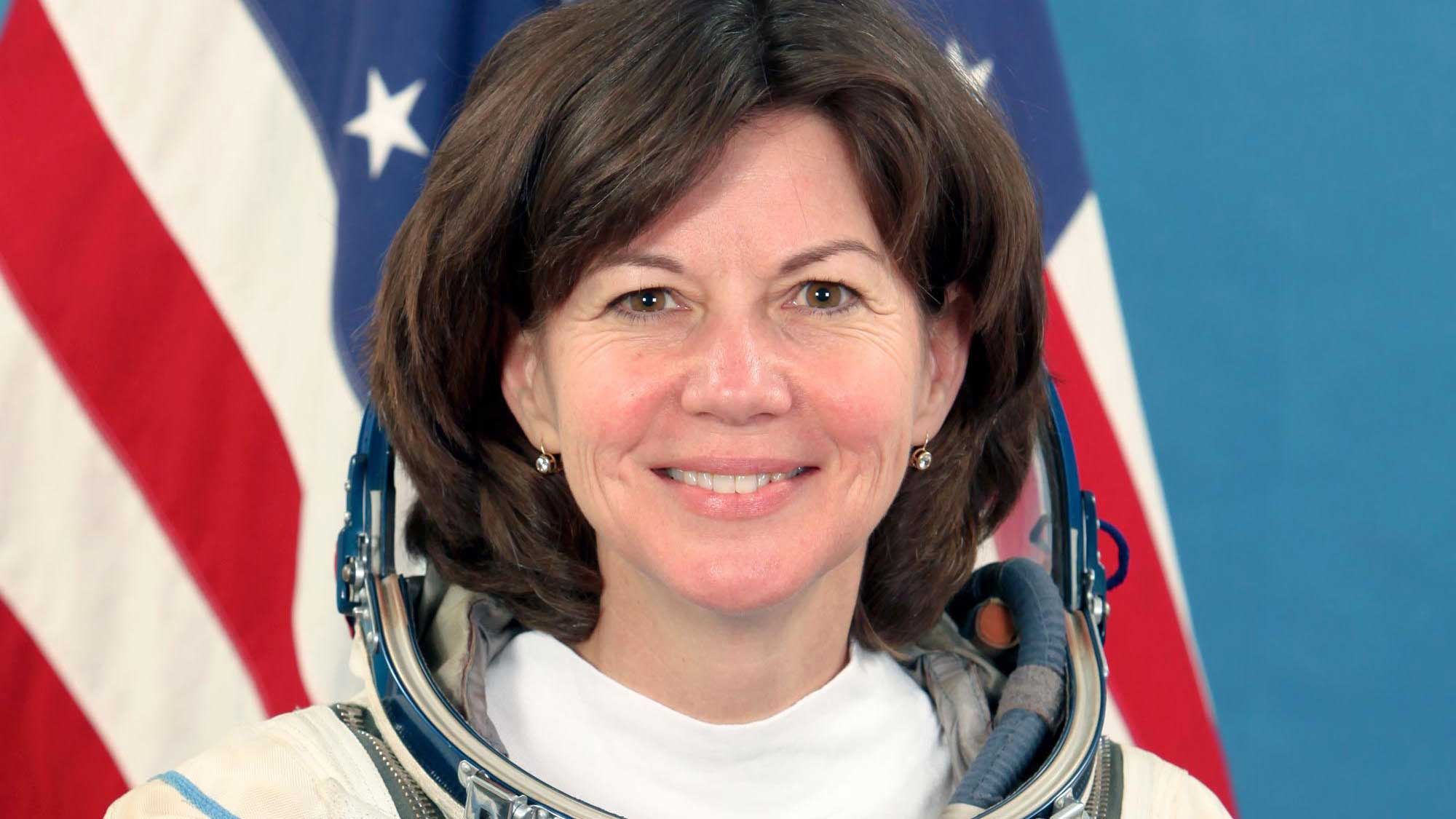 Cady Coleman in her astronaut suit