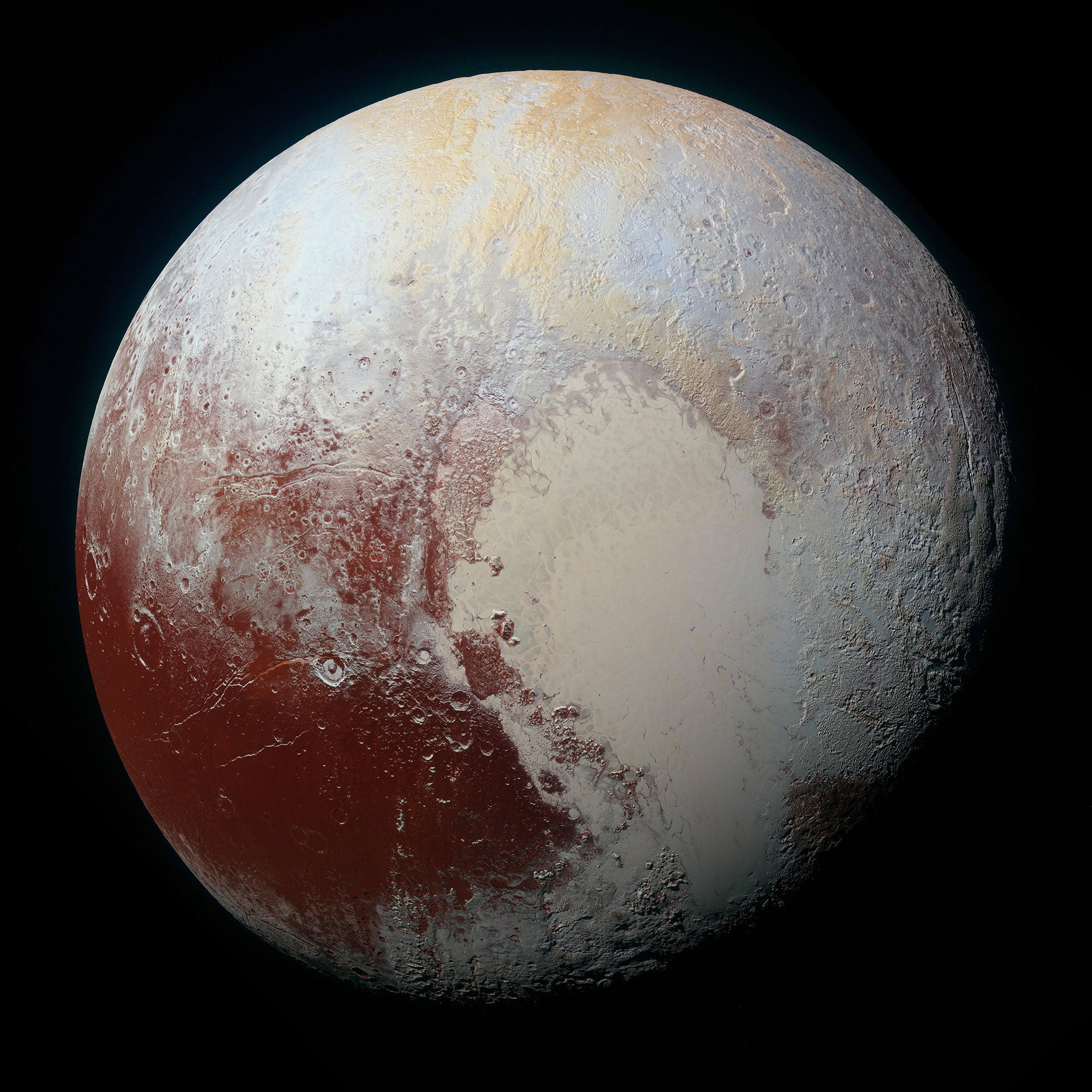 A photograph of the planet Pluto