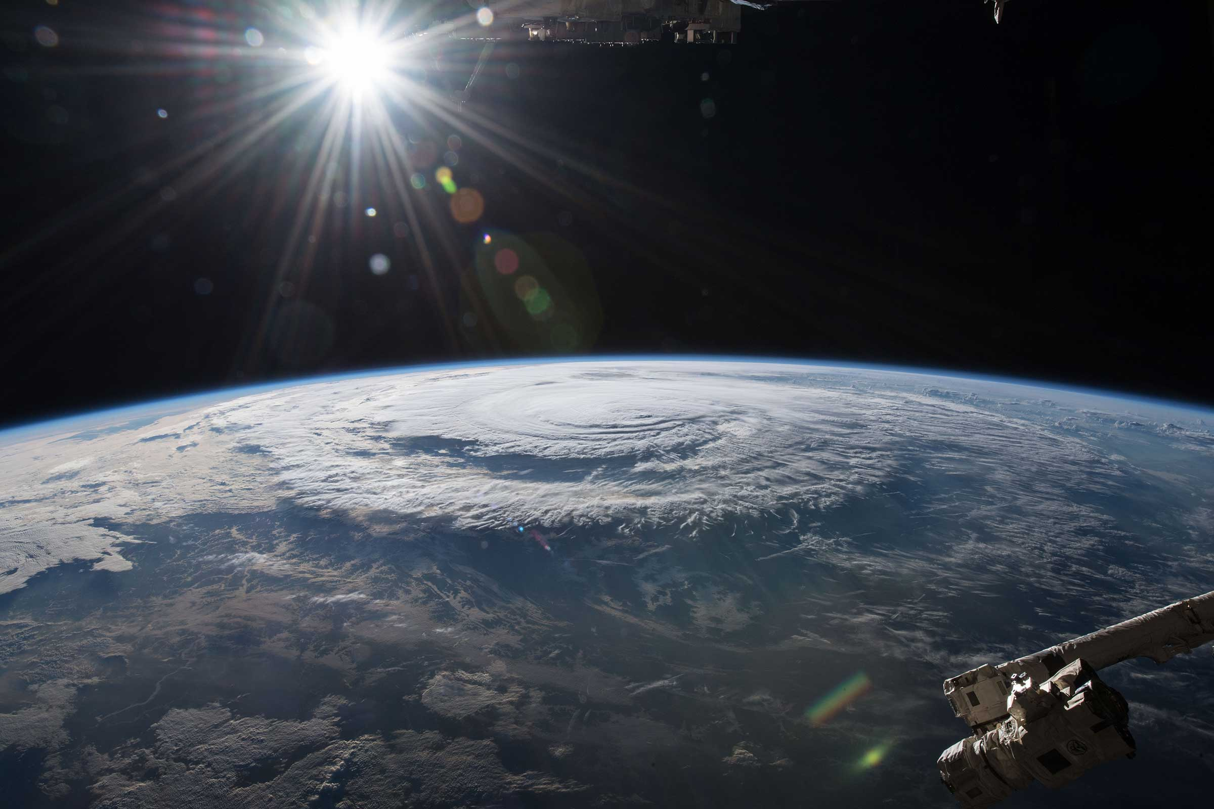 Hurricane Florence is pictured from the International Space Station in this NASA image