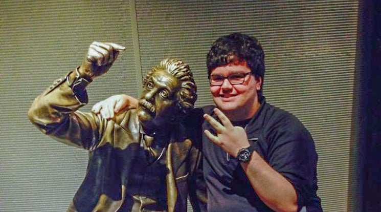 Michael Busch at the Griffith Observatory (with Albert Einstein)