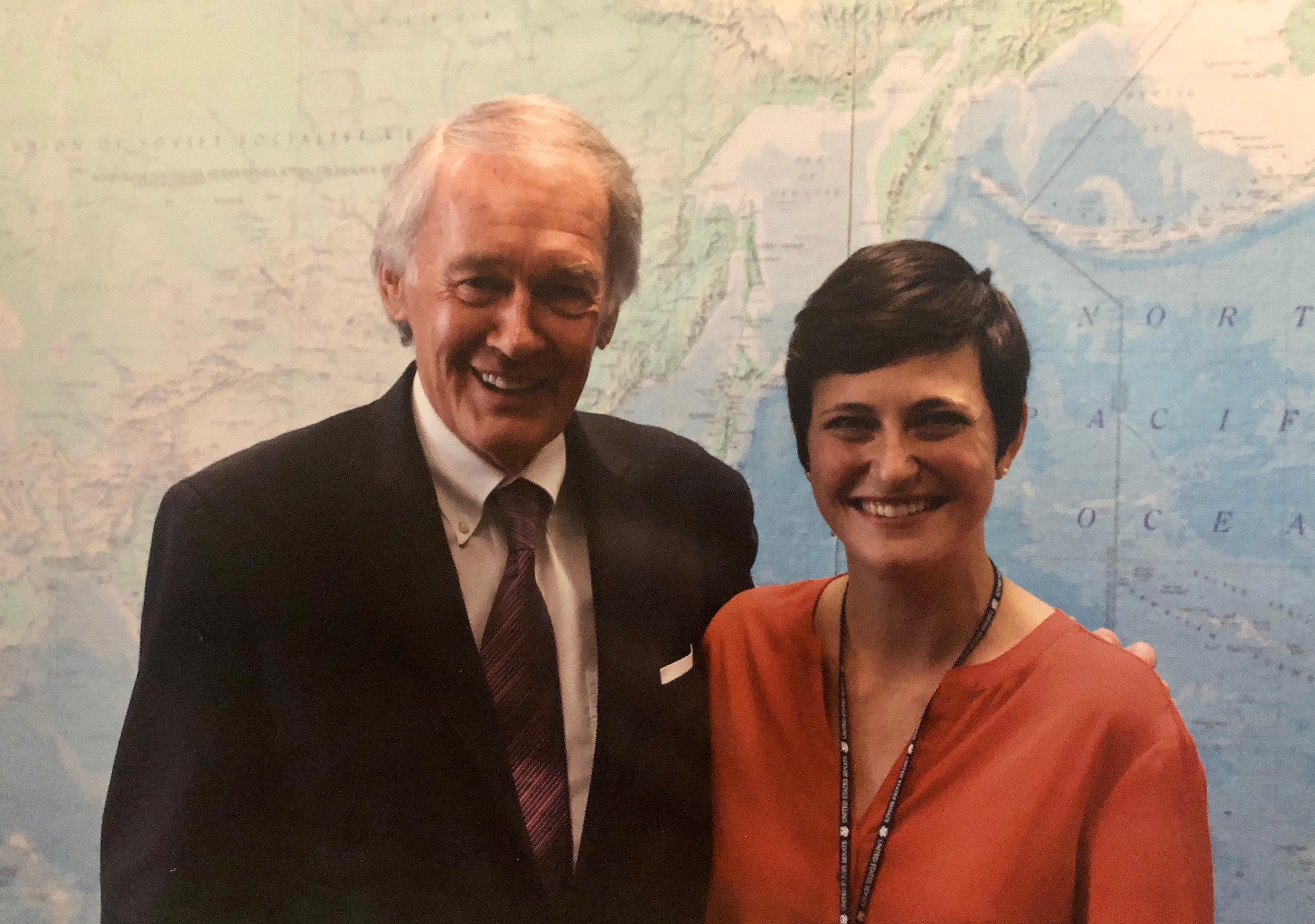 Mary Hannah Schultz and Senator Edward Markey