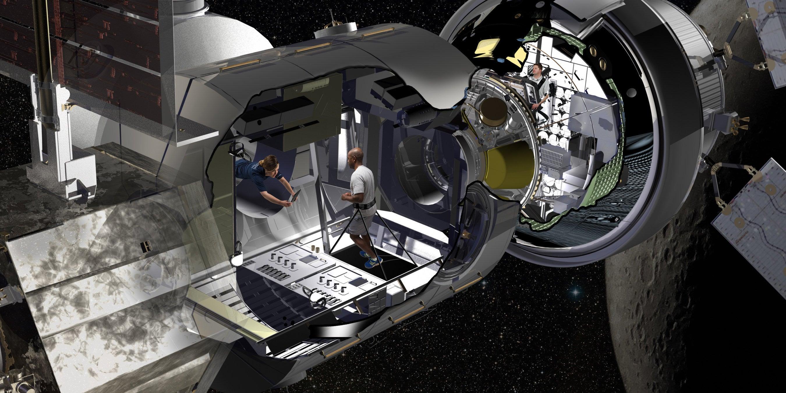 Artist rendering of NASA Deep Space Gateway