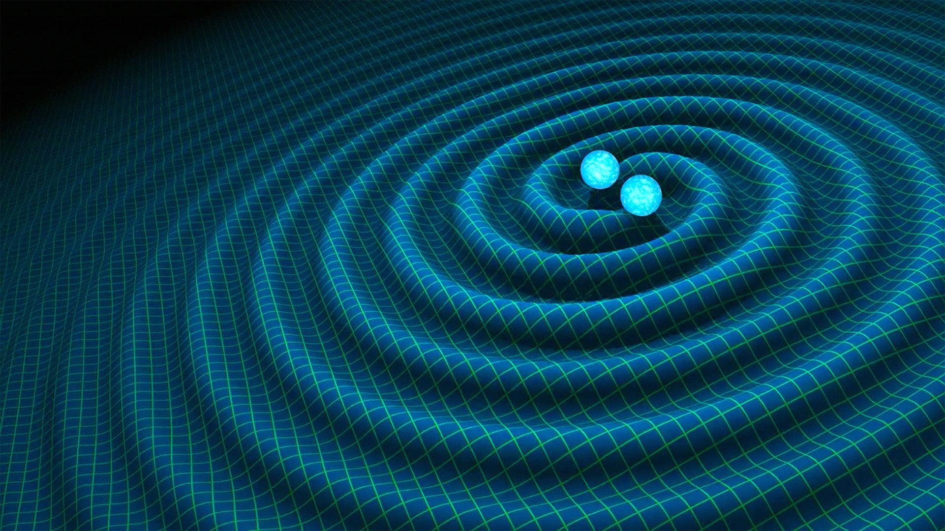 Artist rendering of gravitational waves