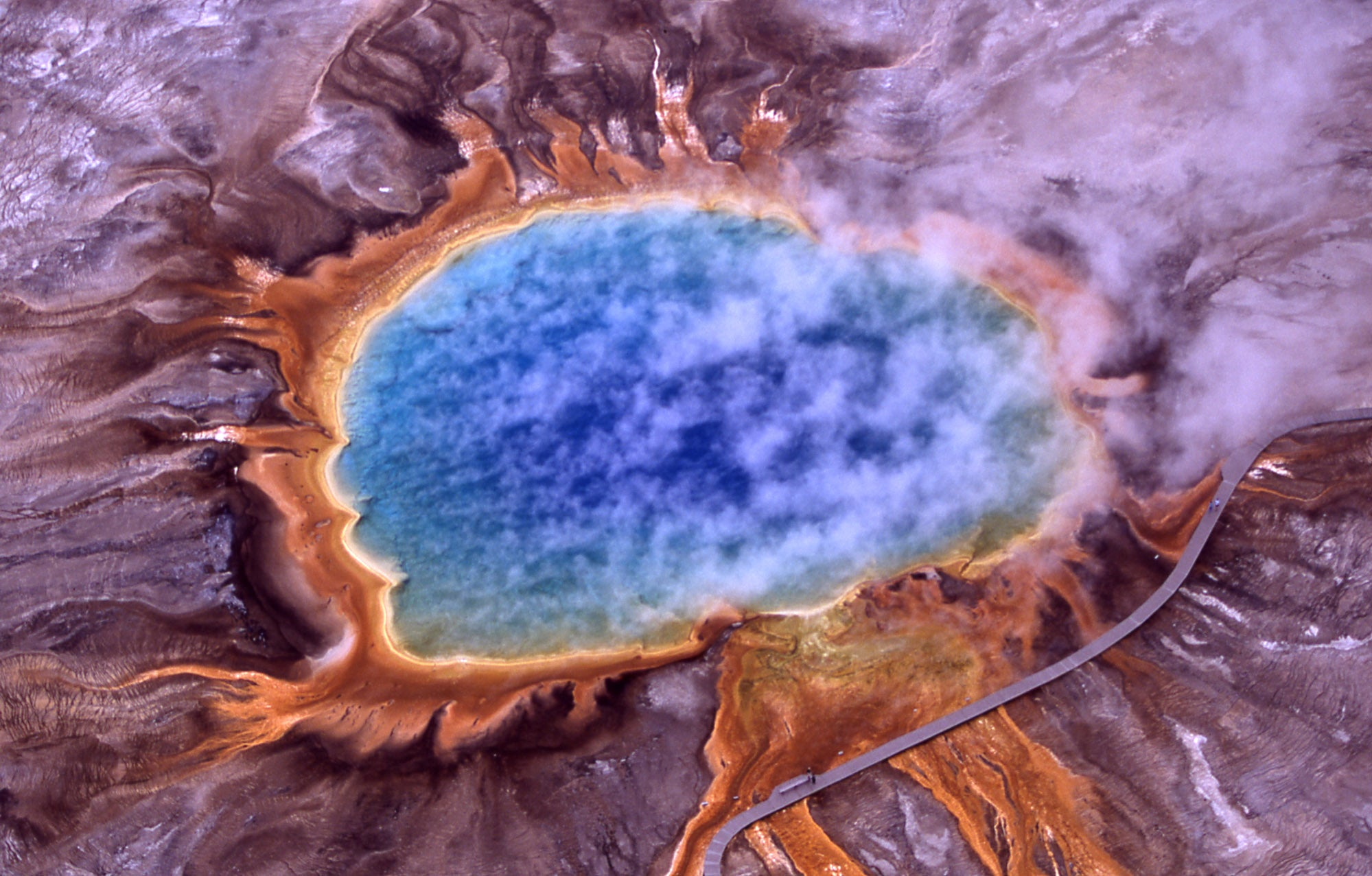 Yellowstone National Park from the air